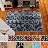 Hand-tufted Karen Contemporary Geometric Wool Area Rug - 9' x 13'