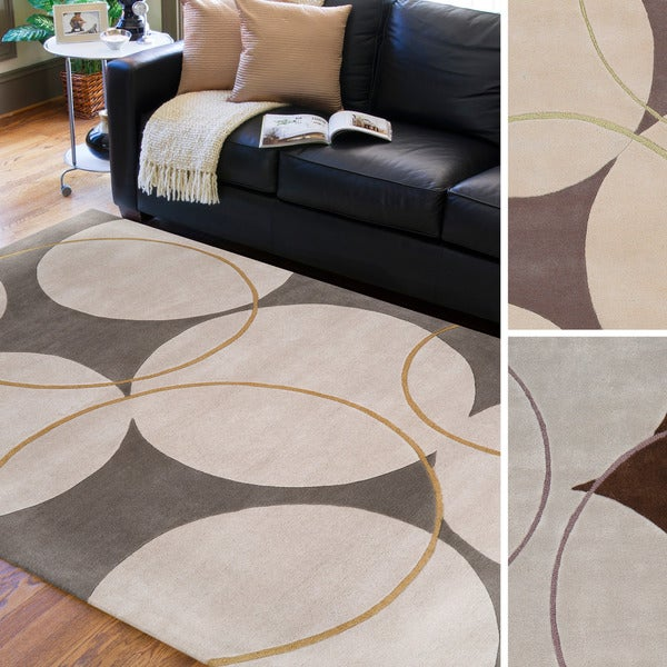 Hand-tufted Allison Contemporary Geometric Wool Area Rug - 5' x 8'