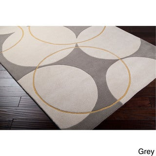Hand-tufted Allison Contemporary Geometric Wool Area Rug (2' x 3')