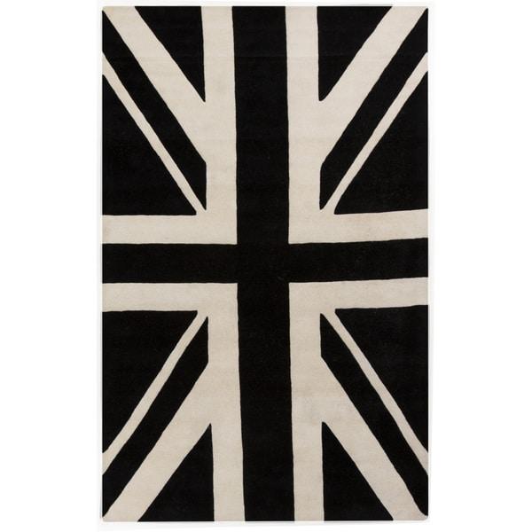 Hand-tufted Davida Graphic Novelty Wool Area Rug (2' x 3')