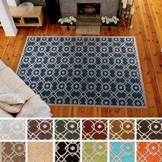Hand-tufted Karen Contemporary Geometric Wool Area Rug (3'3 x 5'3)