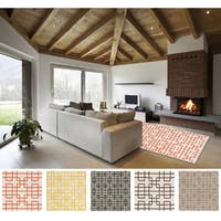 Hand-tufted Eliza Transitional Geometric Wool Area Rug