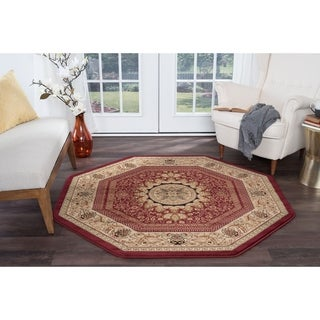 Shop Alise Soho Red Traditional Area Rug 7 10 On Sale
