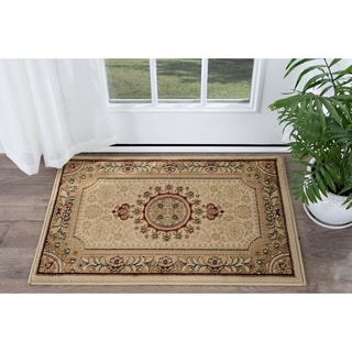 Alise Soho Beige Traditional Area Rug (2' x 3')