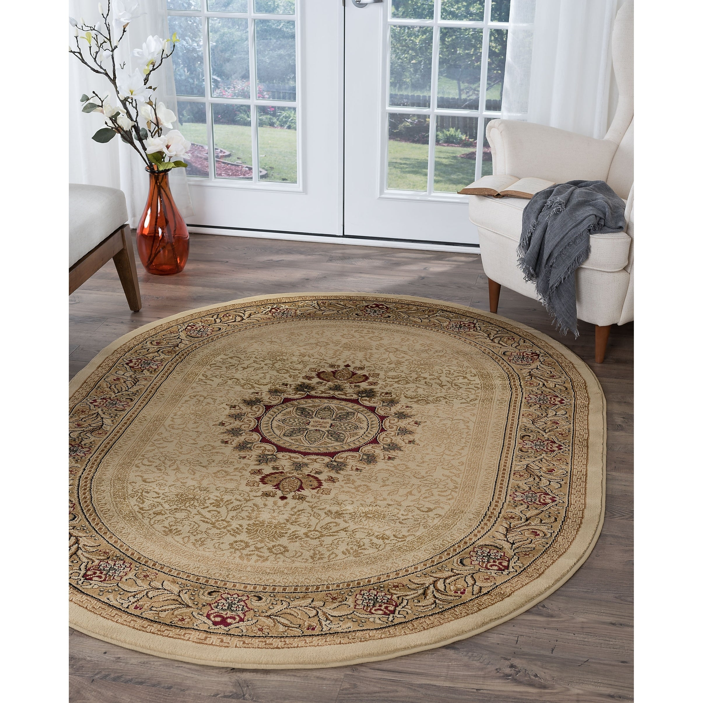 Image of: Shop Alise Rugs Soho Traditional Oriental Oval Area Rug 5 3 X 7 3 Overstock 9306929