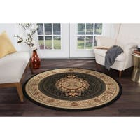 Alise Rugs Soho Traditional Oriental Round Area Rug - 7'10 x 7'10
