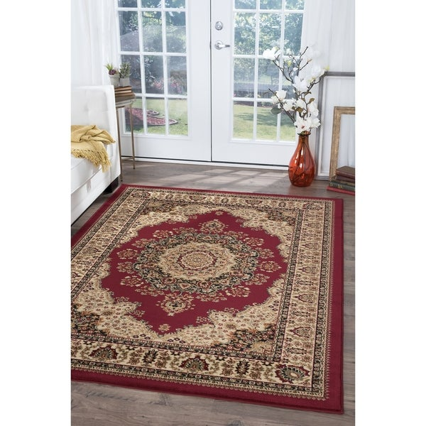 Alise Soho Red Traditional Area Rug - 6'7 x 9'6