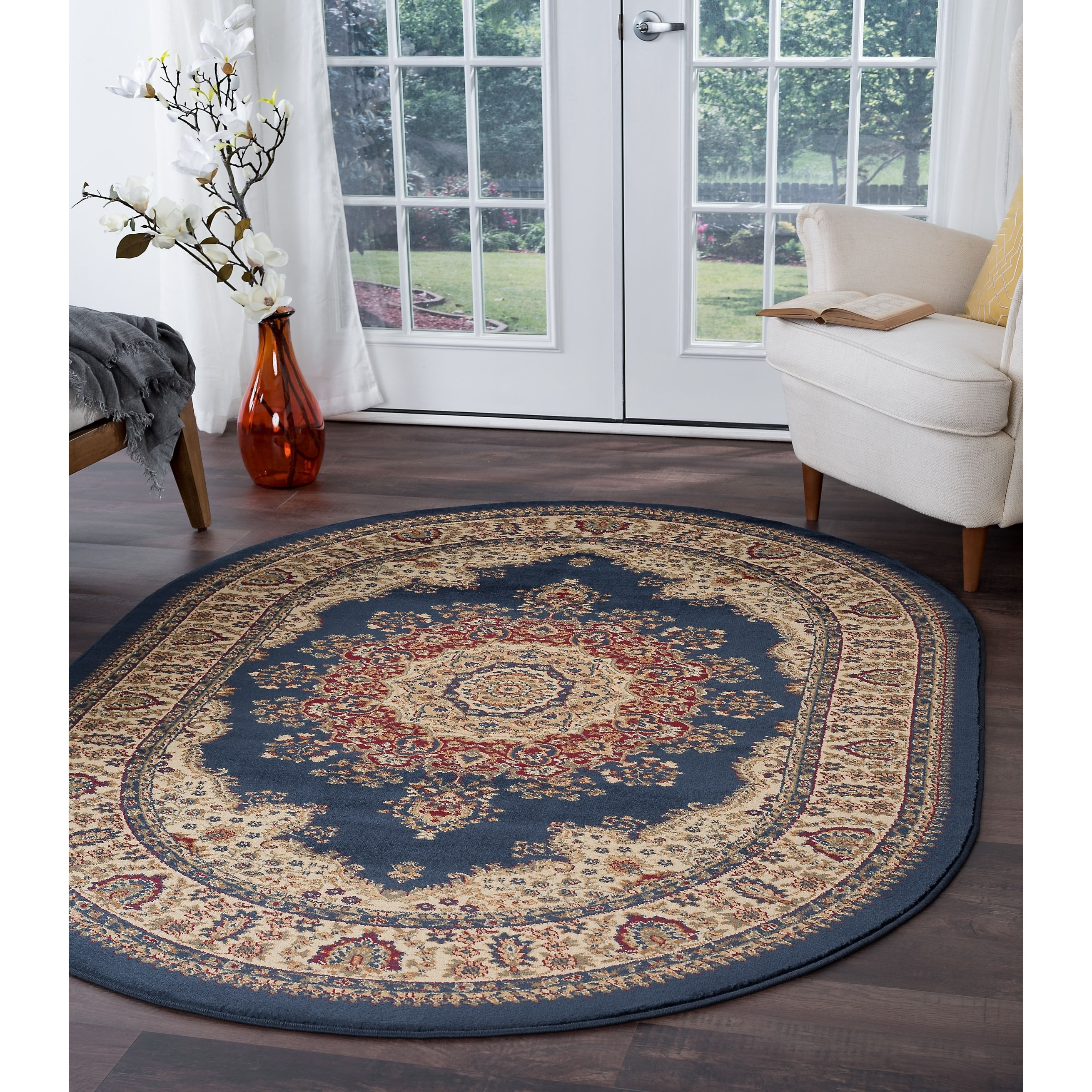 Image of: Shop Alise Rugs Soho Traditional Oriental Oval Area Rug 5 3 X 7 3 Overstock 9306961