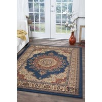 Alise Soho Navy Blue Traditional Area Rug (7'10 x 10'6)