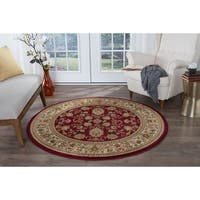 Alise Rugs Soho Traditional Oriental Round Area Rug - 5'3 x 5'3