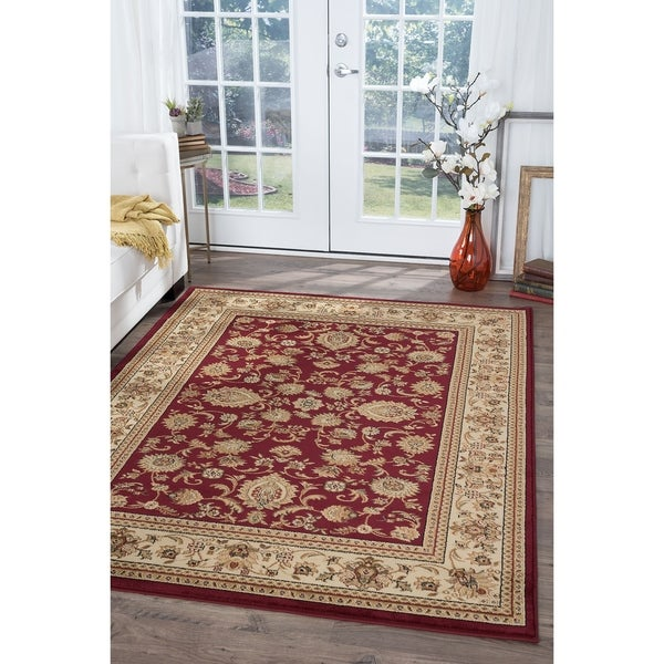 Alise Soho Red Traditional Area Rug (6'7 x 9'6)