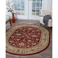 Alise Rugs Soho Traditional Oriental Oval Area Rug - 6'7 x 9'6