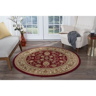Alise Soho Red Traditional Area Rug (7'10 Round)