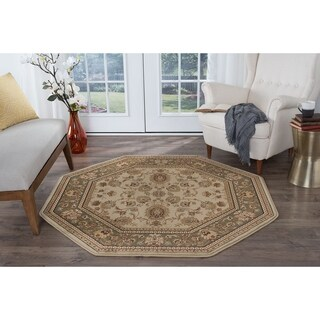 Alise Soho Beige Traditional Area Rug - 5'3