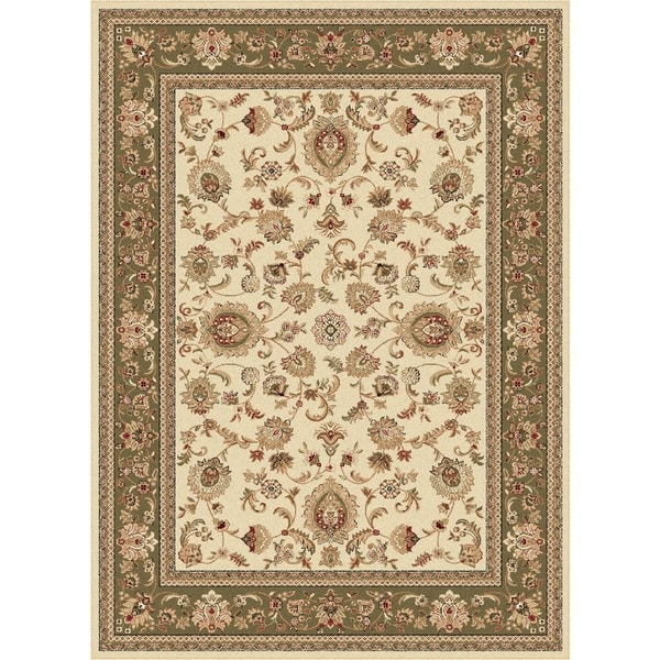 Alise Soho Beige Traditional Area Rug (6'7 x 9'6)