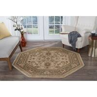 Alise Rugs Soho Traditional Oriental Octagon Area Rug - 7'10 x 7'10