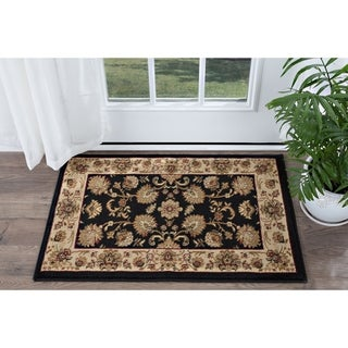 Alise Soho Black Traditional Area Rug (2' x 3')