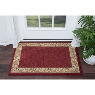 Alise Soho Red Transitional Area Rug (2' x 3')