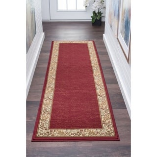 Alise Soho Red Transitional Runner Rug (2'7 x 7'3) - 2'7 x 7'3