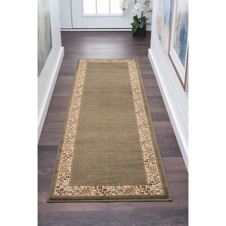 Alise Soho Green Transitional Runner Rug (2'7 x 7'3) - 2'7 x 7'3