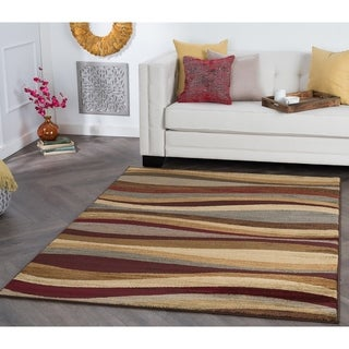 Alise Rhythm Multi Contemporary Area Rug (7'6 x 9'10)