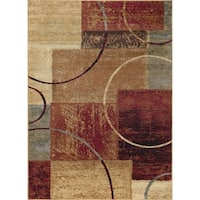 Alise Rugs Rhythm Contemporary Abstract Area Rug - multi - 7'6 x 9'10