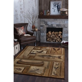 Alise Natural Ivory Lodge Area Rug (7'10 x 10'3) - 7'10 x 10'3