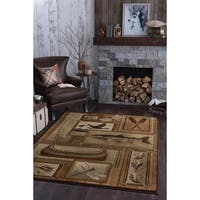 Alise Natural Ivory Lodge Area Rug - 7'10 x 10'3