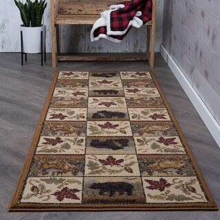 Alise Natural Beige Lodge Runner (2'7 x 7'3)