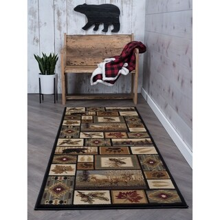 Alise Natural Multi Lodge Runner Rug (2'7 x 7'3)