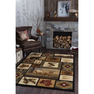 Alise Natural Multi Lodge Area Rug (7'10 x 10'3)
