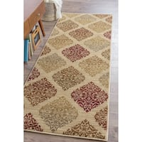 Alise Infinity Beige Transitional Runner (2'7 x 7'3)