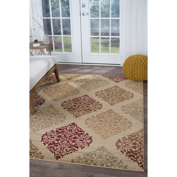 Alise Infinity Beige Transitional Area Rug (7'10 x 10'3)