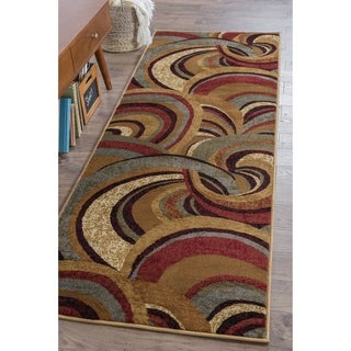 Alise Infinity Brown Contemporary Runner (2'7 x 7'3)