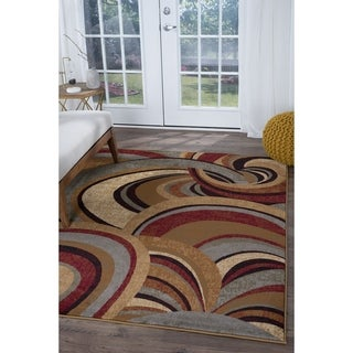 Alise Infinity Brown Contemporary Area Rug (5'3 x 7'3)