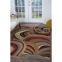 Alise Infinity Brown Contemporary Area Rug - 5'3 x 7'3