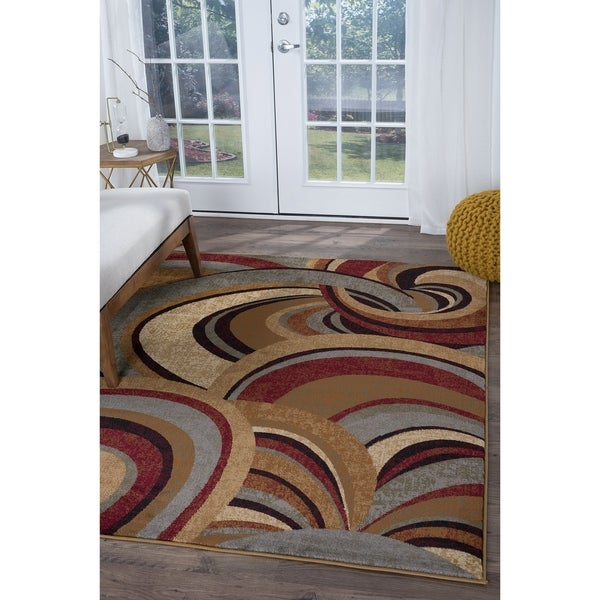 Alise Rugs Infinity Contemporary Abstract Area Rug - 7'10 x 10'3