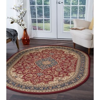 Alise Soho Oval Traditional Area Rug - 6'7 x 9'6