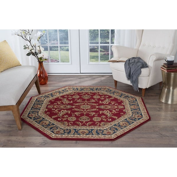 Alise Rugs Soho Transitional Oriental Octagon Area Rug