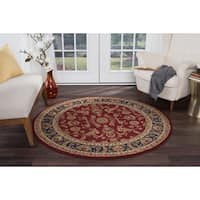 Alise Rugs Soho Transitional Oriental Round Area Rug