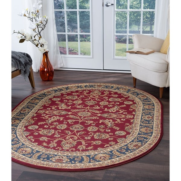 Alise Rugs Soho Transitional Oriental Oval Area Rug