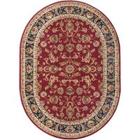 Alise Soho Oval Transitional Area Rug - 5'3 x 7'3