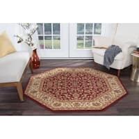 Alise Soho Octagon Transitional Area Rug - 5'3