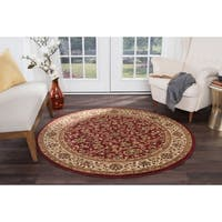 Alise Rugs Soho Transitional Oriental Round Area Rug - 5'3 x 5'3