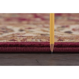 Alise Rugs Soho Transitional Oriental Oval Area Rug - 5'3 x 7'3