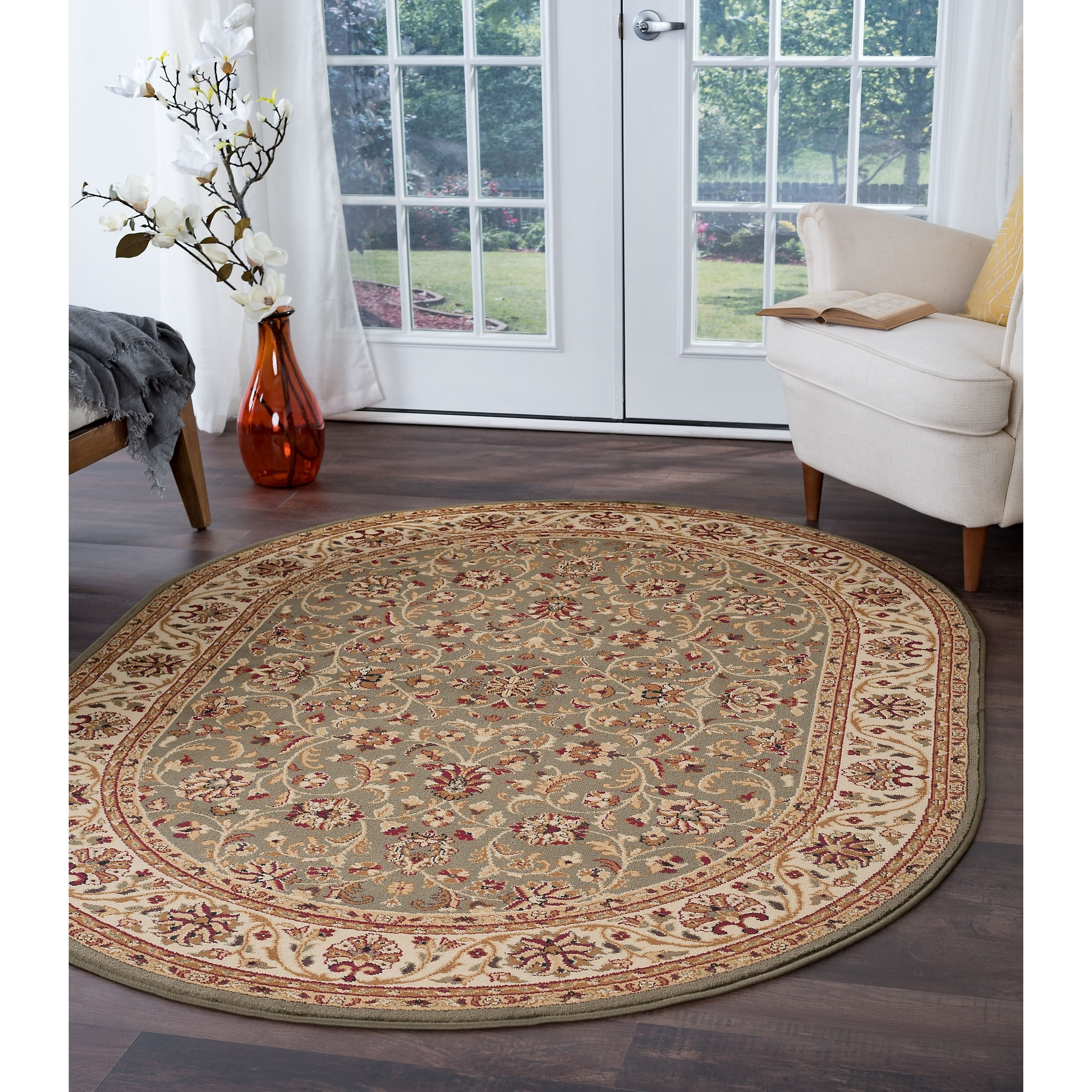 Alise Soho Oval Transitional Area Rug (5'3 x 7'3 Oval) (G...