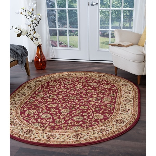 Shop Alise Rugs Soho Transitional Oriental Oval Area Rug 6 7 X 9 6