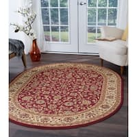 Alise Rugs Soho Transitional Oriental Oval Area Rug - 6'7 x 9'6
