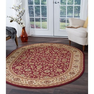 Alise Soho Oval Transitional Area Rug - 6'7 x 9'6