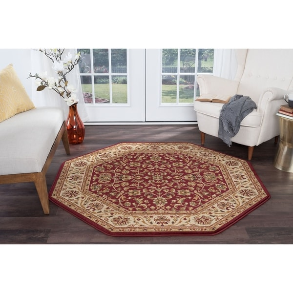 Alise Rugs Soho Transitional Oriental Octagon Area Rug - 7'10 x 7'10